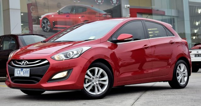Used Hyundai i30 GD MY14 Elite, 2014 Hyundai i30 GD MY14 Elite Red/Black 6 Speed Sports Automatic Hatchback