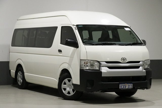 Used Toyota HiAce KDH223R MY15 Commuter, 2015 Toyota HiAce KDH223R MY15 Commuter White 4 Speed Automatic Bus