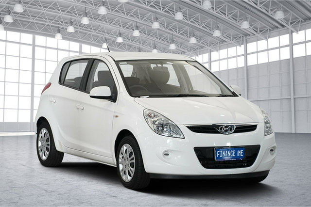 Used Hyundai i20 PB MY12 Active, 2012 Hyundai i20 PB MY12 Active Coral White 4 Speed Automatic Hatchback