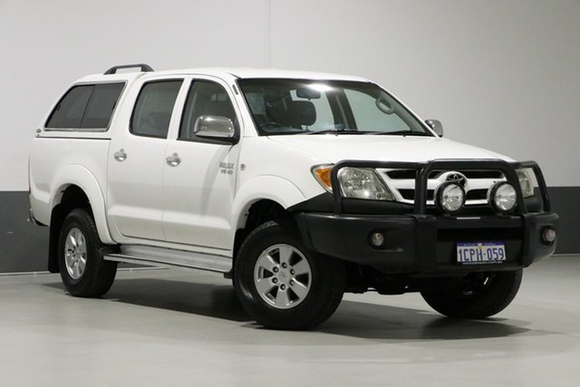 Used Toyota Hilux GGN25R 06 Upgrade SR5 (4x4), 2007 Toyota Hilux GGN25R 06 Upgrade SR5 (4x4) White 5 Speed Automatic Dual Cab Pick-up