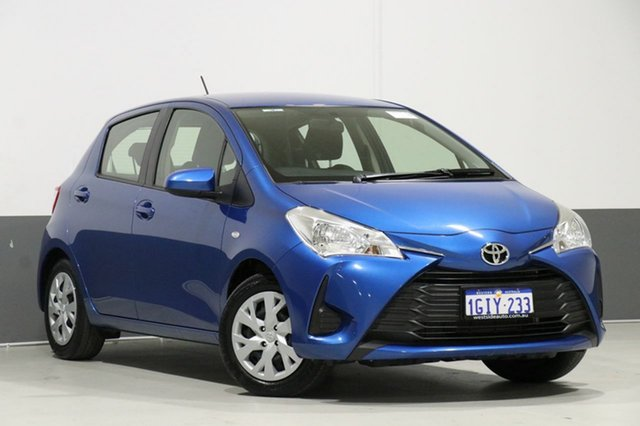 Used Toyota Yaris NCP130R MY17 Ascent, 2017 Toyota Yaris NCP130R MY17 Ascent Blue 4 Speed Automatic Hatchback