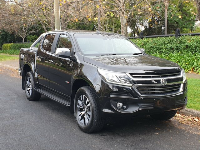 Used Holden Colorado RG MY19 LTZ Pickup Crew Cab, 2018 Holden Colorado RG MY19 LTZ Pickup Crew Cab Black/Grey 6 Speed Sports Automatic Utility