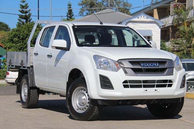 New Isuzu D-MAX MY19 SX Crew Cab, 2019 Isuzu D-MAX MY19 SX Crew Cab Splash White 6 Speed Sports Automatic Cab Chassis