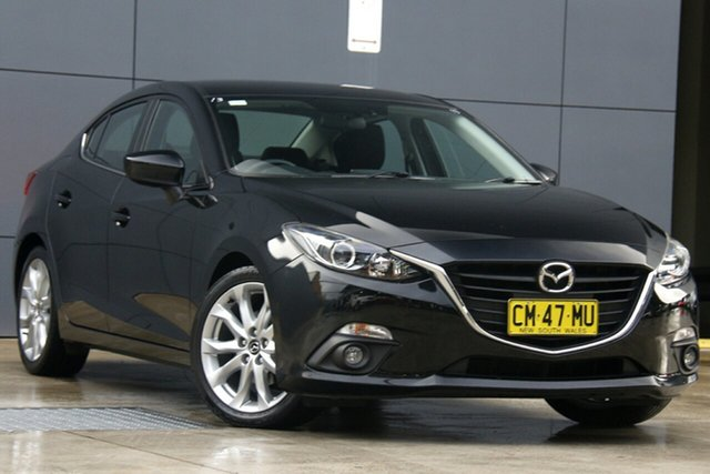 Used Mazda 3 BM5238 SP25 SKYACTIV-Drive, 2015 Mazda 3 BM5238 SP25 SKYACTIV-Drive Black 6 Speed Sports Automatic Sedan