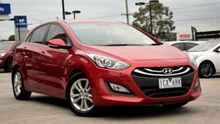2014 Hyundai i30 GD MY14 Elite Red/Black 6 Speed Sports Automatic Hatchback.