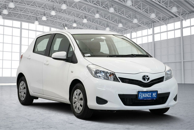 Used Toyota Yaris NCP130R YR, 2011 Toyota Yaris NCP130R YR White 5 Speed Manual Hatchback