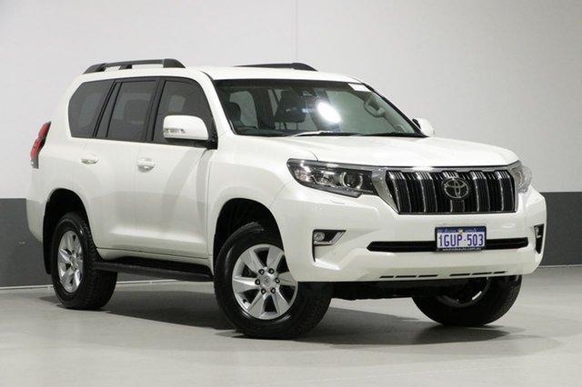 Used Toyota Landcruiser GDJ150R MY18 Prado GXL (prem Int) (4x4), 2018 Toyota Landcruiser GDJ150R MY18 Prado GXL (prem Int) (4x4) White 6 Speed Automatic Wagon