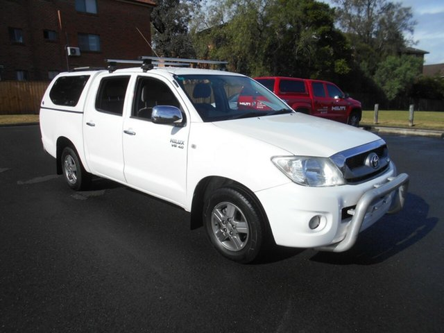 Used Toyota Hilux GGN15R MY11 Upgrade SR5, 2010 Toyota Hilux GGN15R MY11 Upgrade SR5 White 5 Speed Automatic Dual Cab Pick-up