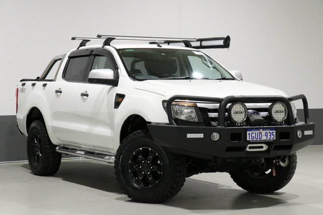 Used Ford Ranger PX XLS 3.2 (4x4), 2013 Ford Ranger PX XLS 3.2 (4x4) White 6 Speed Manual Dual Cab Utility