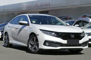 2020 Honda Civic 10th Gen MY20 VTi-LX Platinum White 1 Speed Constant Variable Sedan.