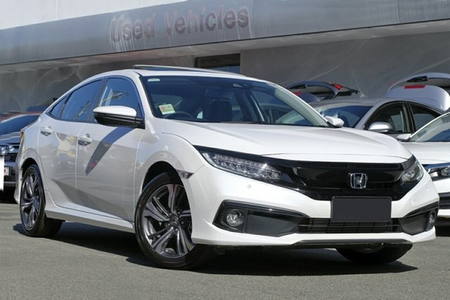 New Honda Civic 10th Gen MY20 VTi-LX, 2020 Honda Civic 10th Gen MY20 VTi-LX Platinum White 1 Speed Constant Variable Sedan