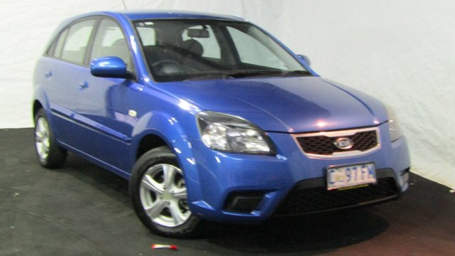 Used Kia Rio JB MY11 S, 2011 Kia Rio JB MY11 S Blue 5 Speed Manual Hatchback