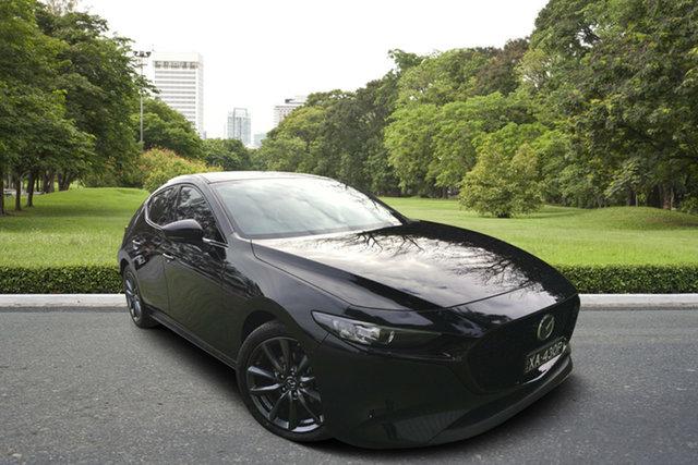 Demo Mazda 3 BP2HLA G25 SKYACTIV-Drive GT, 2019 Mazda 3 BP2HLA G25 SKYACTIV-Drive GT Jet Black 6 Speed Sports Automatic Hatchback