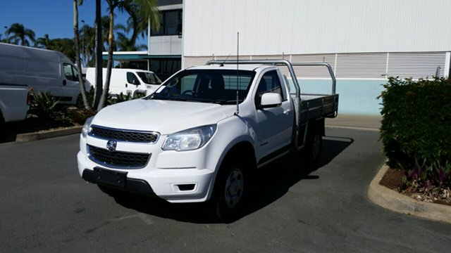 Used Holden Colorado RG MY15 LS 4x2, 2015 Holden Colorado RG MY15 LS 4x2 White 6 Speed Sports Automatic Cab Chassis