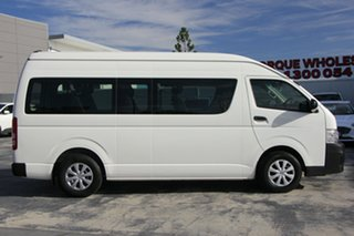 2013 Toyota HiAce KDH223R MY12 Commuter High Roof Super LWB Vanilla/grey 4 Speed Automatic Bus.