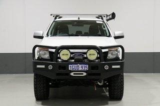 2013 Ford Ranger PX XLS 3.2 (4x4) White 6 Speed Manual Dual Cab Utility.