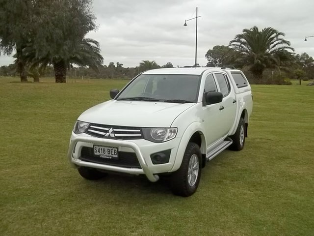 Used Mitsubishi Triton MN MY15 GLX Double Cab, 2014 Mitsubishi Triton MN MY15 GLX Double Cab White 4 Speed Sports Automatic Utility