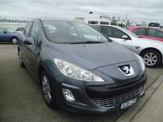 Used Peugeot 308 T7 XSE Turbo, 2009 Peugeot 308 T7 XSE Turbo Grey 4 Speed Sports Automatic Hatchback