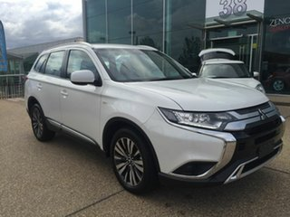 2018 Mitsubishi Outlander ZL MY19 ES AWD White 6 Speed Constant Variable Wagon.