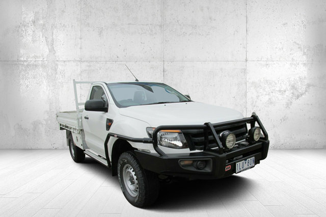 Used Ford Ranger XL XL, 2014 Ford Ranger XL XL White 6 Speed Manual Cab Chassis