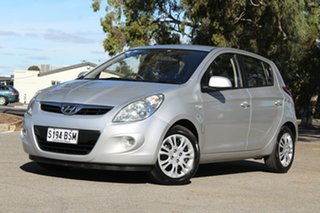 2011 Hyundai i20 PB MY11 Active Silver 4 Speed Automatic Hatchback.