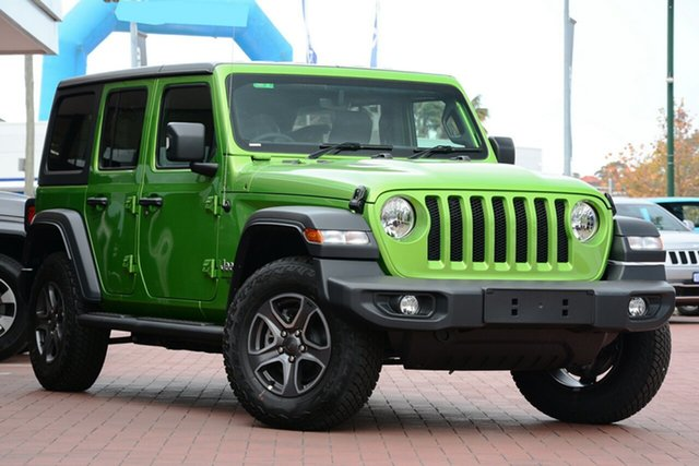 New Jeep Wrangler JL MY19 Unlimited Sport S, 2019 Jeep Wrangler JL MY19 Unlimited Sport S Mojito! 8 Speed Automatic Softtop