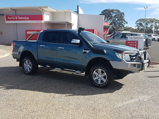 Used Ford Ranger PX XLT 3.2 (4x4), 2013 Ford Ranger PX XLT 3.2 (4x4) Green 6 Speed Manual Dual Cab Utility