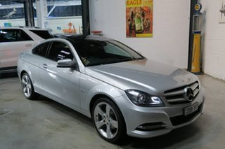 2012 Mercedes-Benz C180 C204 MY13 BlueEFFICIENCY 7G-Tronic + Silver 7 Speed Sports Automatic Coupe.