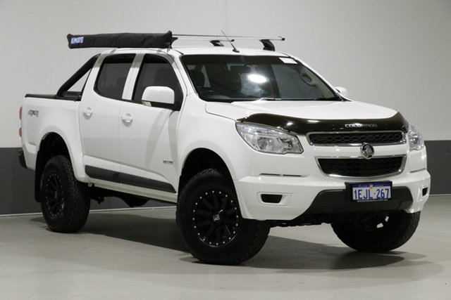 Used Holden Colorado RG MY14 LX (4x4), 2013 Holden Colorado RG MY14 LX (4x4) White 6 Speed Automatic Crew Cab Pickup