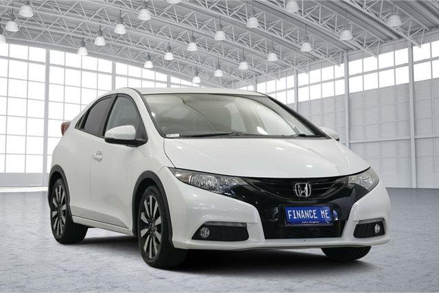 Used Honda Civic 9th Gen MY14 VTi-L, 2014 Honda Civic 9th Gen MY14 VTi-L White 5 Speed Sports Automatic Hatchback