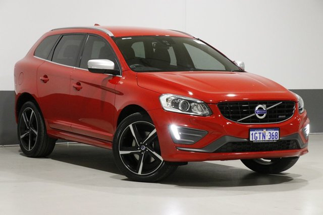 Used Volvo XC60 DZ MY14 D5 R-Design, 2014 Volvo XC60 DZ MY14 D5 R-Design Red 6 Speed Automatic Geartronic Wagon