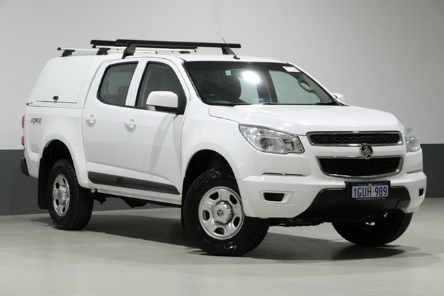 Used Holden Colorado RG MY15 LS (4x4), 2015 Holden Colorado RG MY15 LS (4x4) White 6 Speed Automatic Crew Cab Pickup