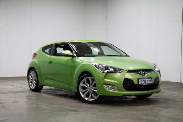 Used Hyundai Veloster FS2 Coupe D-CT, 2013 Hyundai Veloster FS2 Coupe D-CT Green 6 Speed Sports Automatic Dual Clutch Hatchback