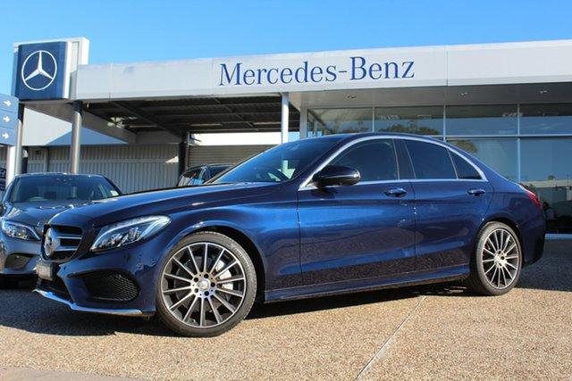 Used Mercedes-Benz C250 W205 807+057MY 9G-Tronic, 2017 Mercedes-Benz C250 W205 807+057MY 9G-Tronic Cavansite Blue 9 Speed Sports Automatic Sedan