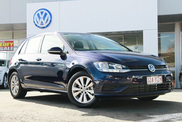 Demo Volkswagen Golf 7.5 MY18 110TSI DSG Trendline, 2018 Volkswagen Golf 7.5 MY18 110TSI DSG Trendline Atlantic Blue 7 Speed