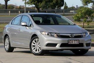 2013 Honda Civic 9th Gen Ser II VTi-L Silver 5 Speed Sports Automatic Sedan.