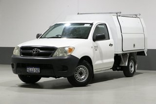 2005 Toyota Hilux TGN16R Workmate White 5 Speed Manual Cab Chassis.