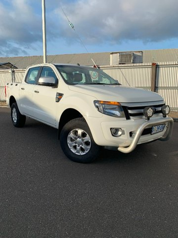 Used Ford Ranger PX XLS Double Cab, 2014 Ford Ranger PX XLS Double Cab White 6 Speed Manual Utility