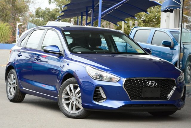 New Hyundai i30 PD2 MY19 Active, 2019 Hyundai i30 PD2 MY19 Active Intense Blue 6 Speed Sports Automatic Hatchback