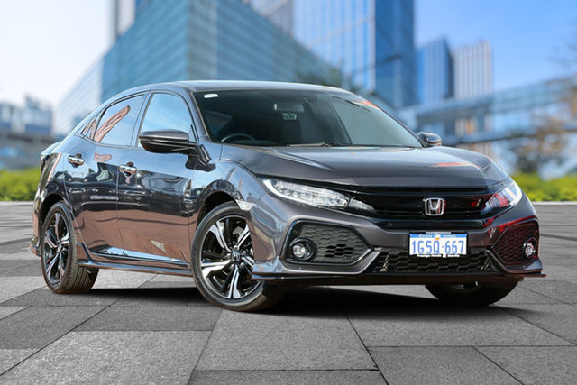 Used Honda Civic 10th Gen MY17 RS, 2017 Honda Civic 10th Gen MY17 RS Modern Steel 1 Speed Constant Variable Hatchback