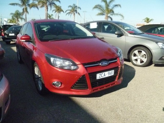 Used Ford Focus LW MkII Trend PwrShift, 2012 Ford Focus LW MkII Trend PwrShift Red 6 Speed Auto Sportshift Hatchback