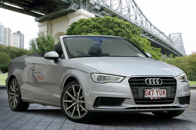 Used Audi A3 8V MY15 Attraction S Tronic, 2014 Audi A3 8V MY15 Attraction S Tronic Silver 7 Speed Sports Automatic Dual Clutch Cabriolet