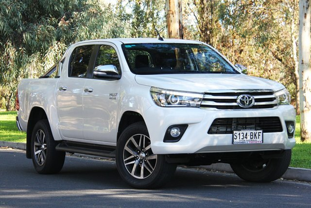 Used Toyota Hilux GUN126R SR5 Double Cab, 2016 Toyota Hilux GUN126R SR5 Double Cab Crystal Pearl 6 Speed Sports Automatic Utility