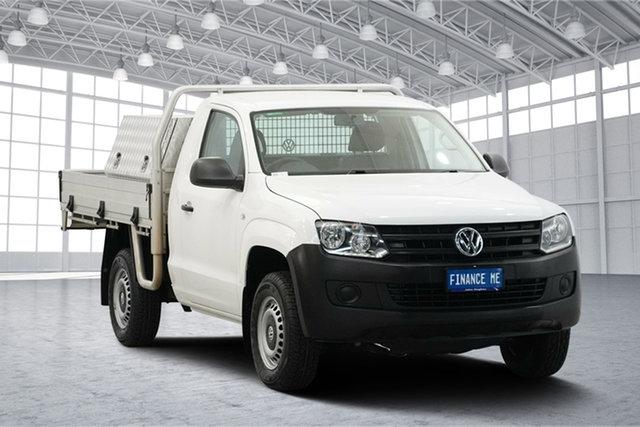 Used Volkswagen Amarok 2H MY14 TDI400 4Mot, 2014 Volkswagen Amarok 2H MY14 TDI400 4Mot White 6 Speed Manual Cab Chassis
