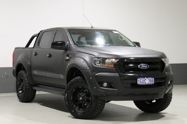 Used Ford Ranger PX MkII XL 3.2 (4x4), 2015 Ford Ranger PX MkII XL 3.2 (4x4) Black 6 Speed Automatic Crew Cab Utility