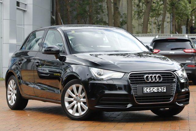 Used Audi A1 8X MY14 Attraction Sportback S Tronic, 2014 Audi A1 8X MY14 Attraction Sportback S Tronic Black 7 Speed Sports Automatic Dual Clutch