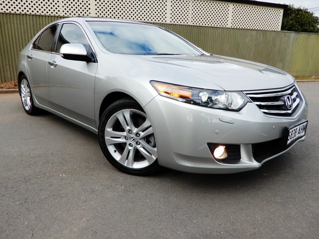 Used Honda Accord Euro CU MY10 Luxury, 2010 Honda Accord Euro CU MY10 Luxury Silver 5 Speed Automatic Sedan