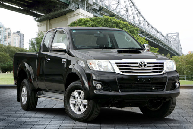Used Toyota Hilux KUN26R MY12 SR5 Xtra Cab, 2012 Toyota Hilux KUN26R MY12 SR5 Xtra Cab Black 5 Speed Manual Utility