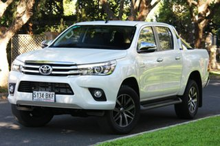 2016 Toyota Hilux GUN126R SR5 Double Cab Crystal Pearl 6 Speed Sports Automatic Utility.