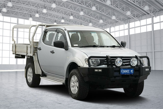 Used Mitsubishi Triton MN MY15 GLX Double Cab, 2014 Mitsubishi Triton MN MY15 GLX Double Cab Silver 4 Speed Sports Automatic Utility